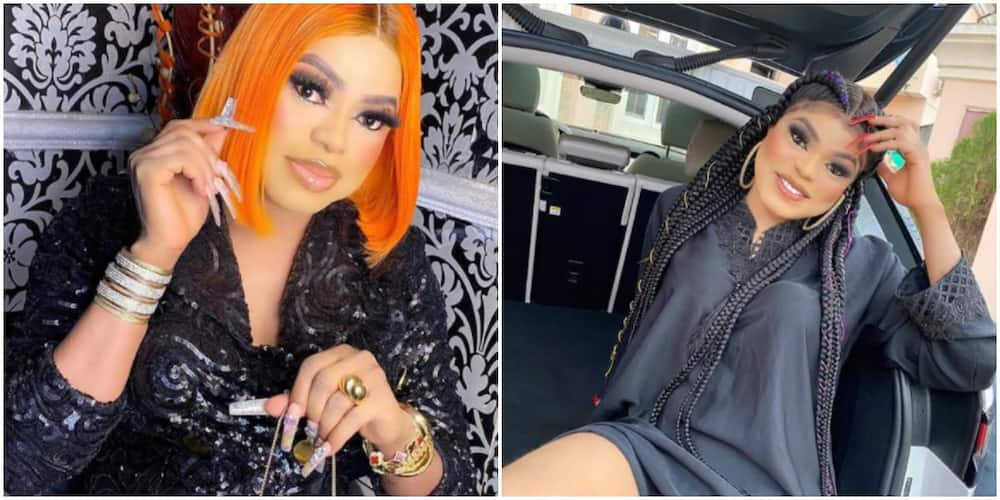 Bobrisky flaunts his new iPhone 12 pro he reportedly bought for N710,000 (photo)