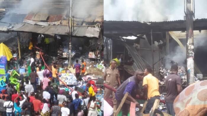Fire ravages shops in Koforidua