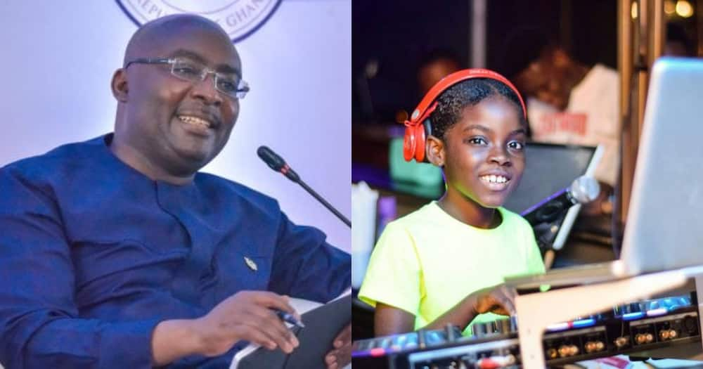 """DJ Switch meets Vice Prez Bawumia; He calls her """"talented"""" and """"global icon"""""""