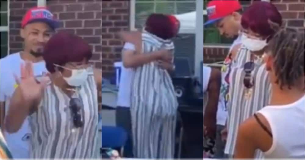Video: Woman cries uncontrollably after her son released from jail surprised her