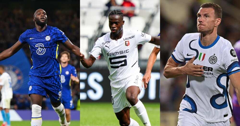 Kamaldeen Sulemana, Lukaku and Dzeko for their clubs. SOURCE: Twitter/ @Kamaldeenho10 @RomeluLukaku9 @EdDzeko