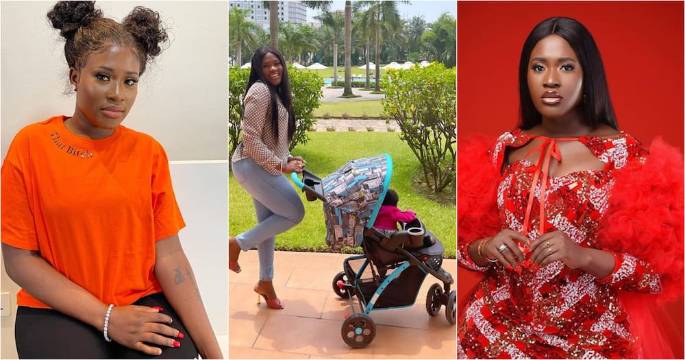 Island Frimpong: Fella Makafui Steps Out With Daughter On Independence Day; Photos, Video Stir Reactions