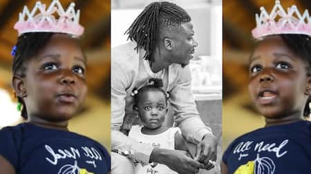 """""""What a wonderful place"""" - Stonebwoy's daughter Jidula screams in new video admiring vacation destination with family"""
