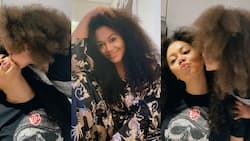 Nadia Buari 'twins' with tall daughter as she flaunts their long natural hair in photos, fans scream