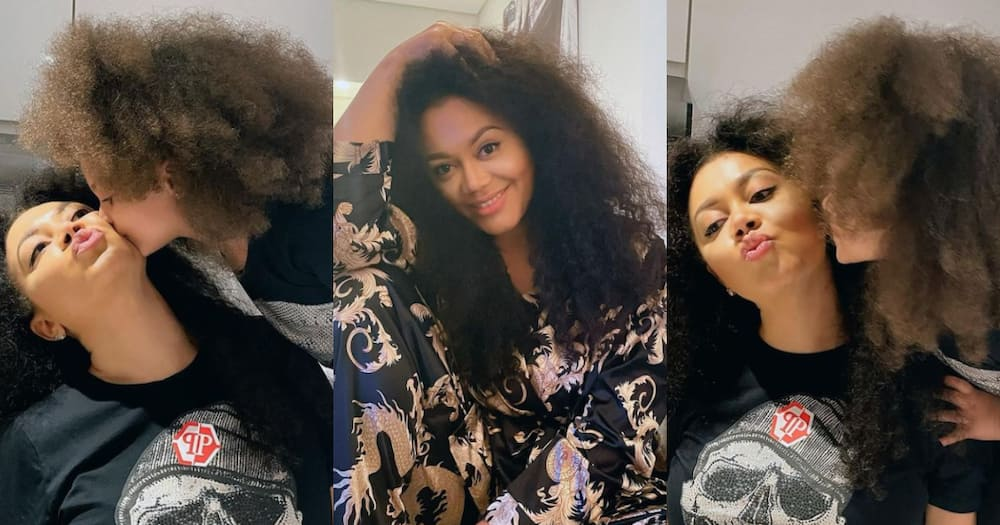 Nadia Buari 'twins' with daughter as she flaunts their natural hair in photos, gets Ghanaians talking