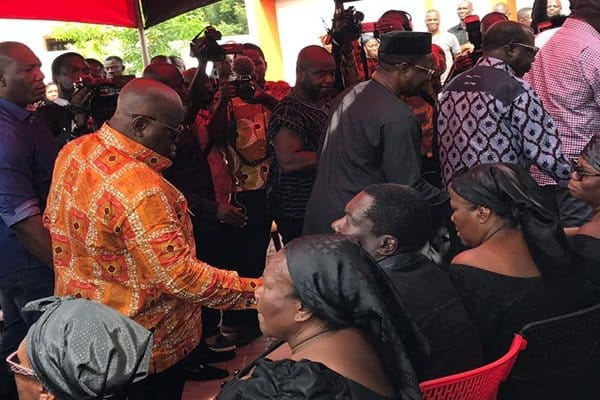 Akufo-Addo visits late Kyeremateng Agyarko's family (Photos, Video)