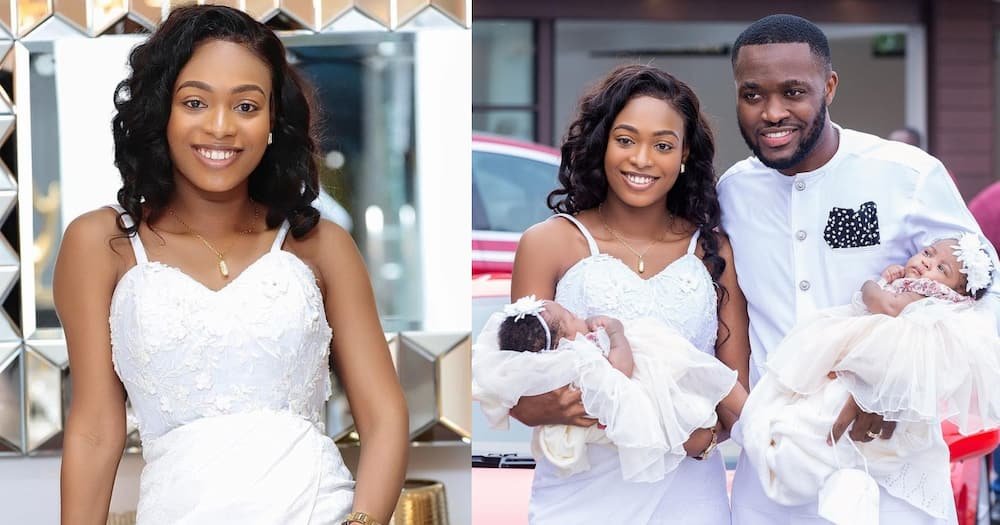 Tracy Osei: Kennedy Osei's wife stuns fans with post-delivery photos