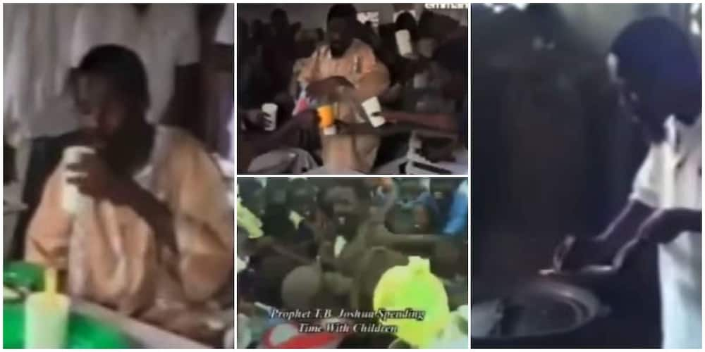 TB Joshua: Old Video of the Late Prophet Cooking Food and Serving Water to Church Members Warm Hearts