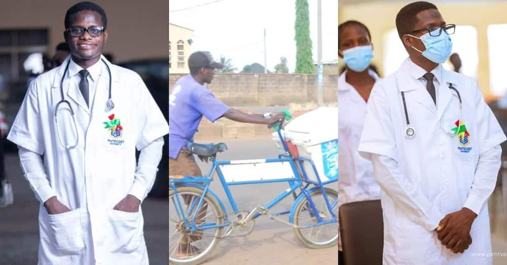 Man who used to sell yoghurt on street makes it to Pentecost University in Accra