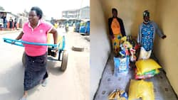 Well-Wishers Open Cereals Shop for Woman Pictured Pulling Heavy Mkokoteni