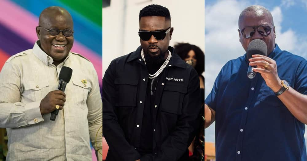 Sarkodie replies as Akufo-Addo as he praises his Happy Day song; bigs up Mahama