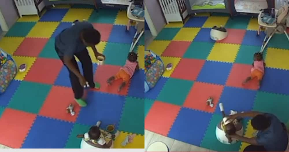 Wicked Caregiver Caught on CCTV Camera Killing 11-Month-old baby with food; sad Video Drops