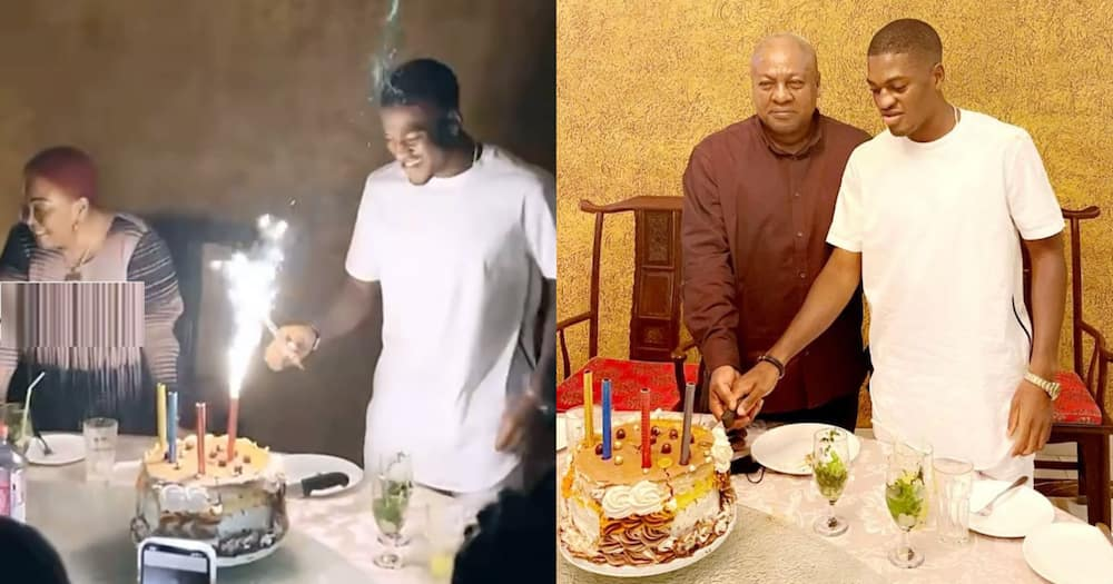 Sharaf: John Mahama's Son Celebrates 24th Birthday With Family Dinner; Gets Mom Excited In Video