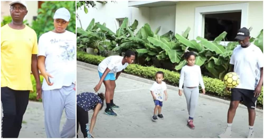 Regina Daniels shares video of a typical sports day in her family