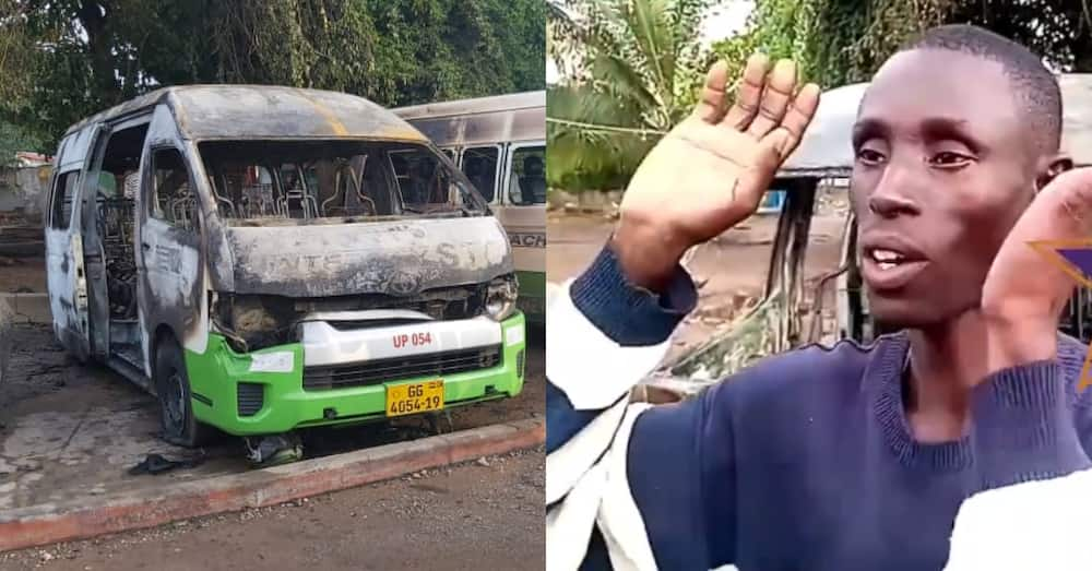 STC driver whose car got burnt by suspected secessionists at Ho in Volta Region speaks in video