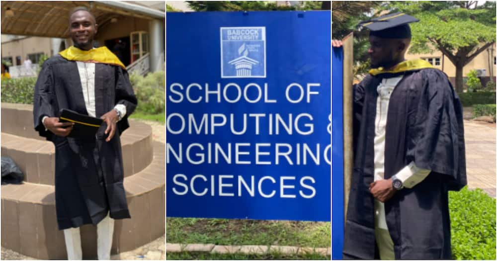 Praise be to God, BSc in Computer Science bagged - Man celebrates as he earns degree