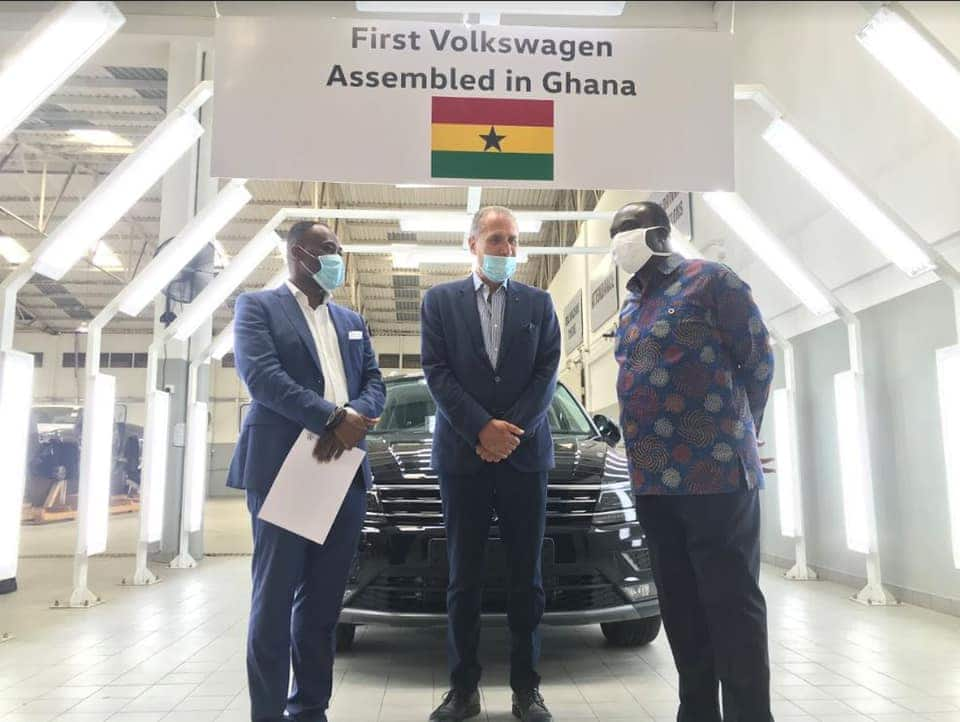 Photos of minister's visit to VW Ghana's assembly facility emerge online