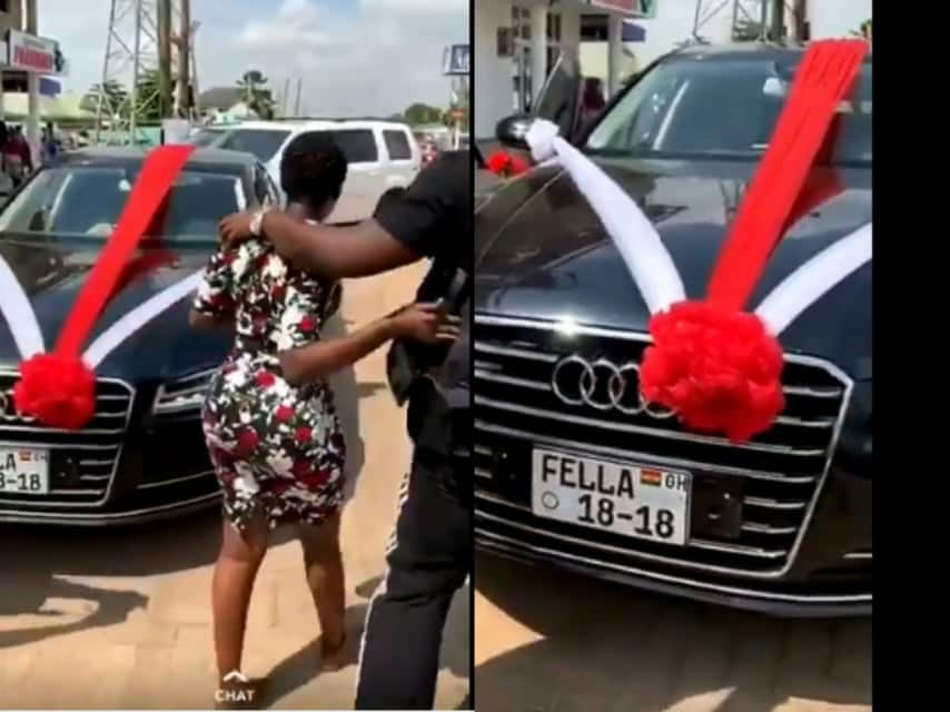 There is no FELLA 18-18 plate - DVLA sources reportedly exposes Medikal and Fella over new Audi car