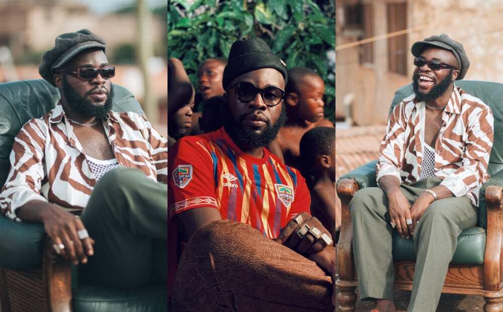 Phobiaaa - Ghanaian rapper Manifest glitters in Hearts of Oak jersey