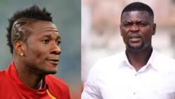 Best coach in Ghana right there - Asamoah Gyan tells Hearts of Oak coach Samuel Boadu
