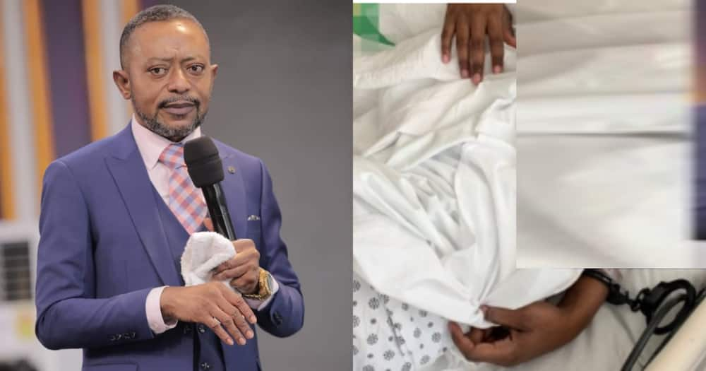 Owusu Bempah Rushed To Hospital After Court Denied Him Bail; Photo Of Him In Handcuffs Pops Up
