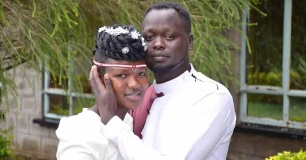 Clement Mnangat and his newly-wed wife Nancy Chepoisho Sirma. Photo: Standard.