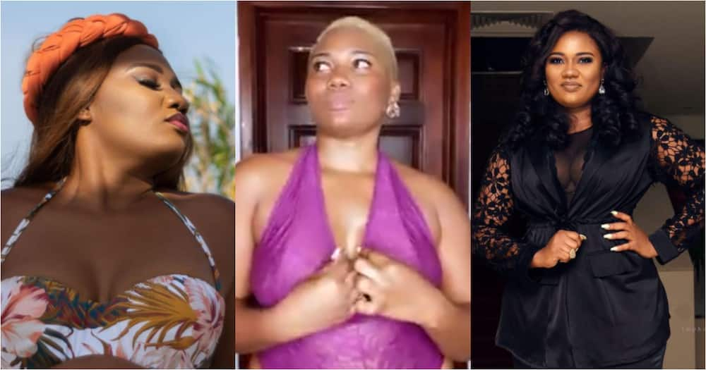 Abena Korkor drops jaws as she flaunts her natural curves and beauty in bedroom videos
