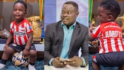 9 photos of Odartey Lamptey's super cute son who is already taking after dad's football career
