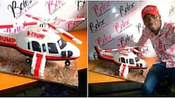 Nigerian man wows social media after baking Donald Trump helicopter cake