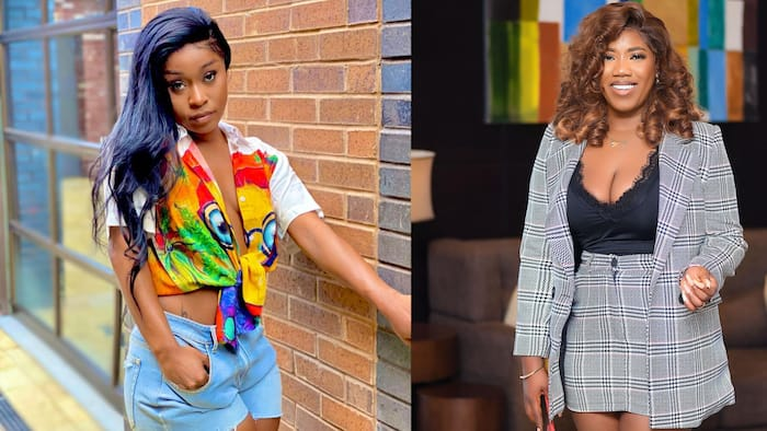 Efia Odo shames Victoria Lebene for trying to hook her up with a man for $2000