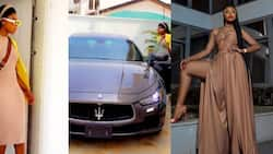 Becca starts 2021 in new Maserati as she flaunts luxurious car in video