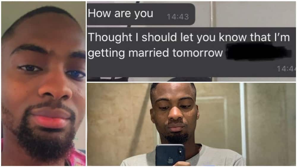 The man's tweets have gone viral online. Photo source: Twitter/Kunle