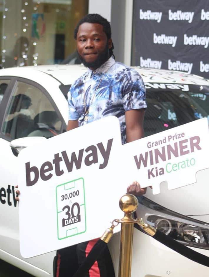 23-year-old university student wins Betway car