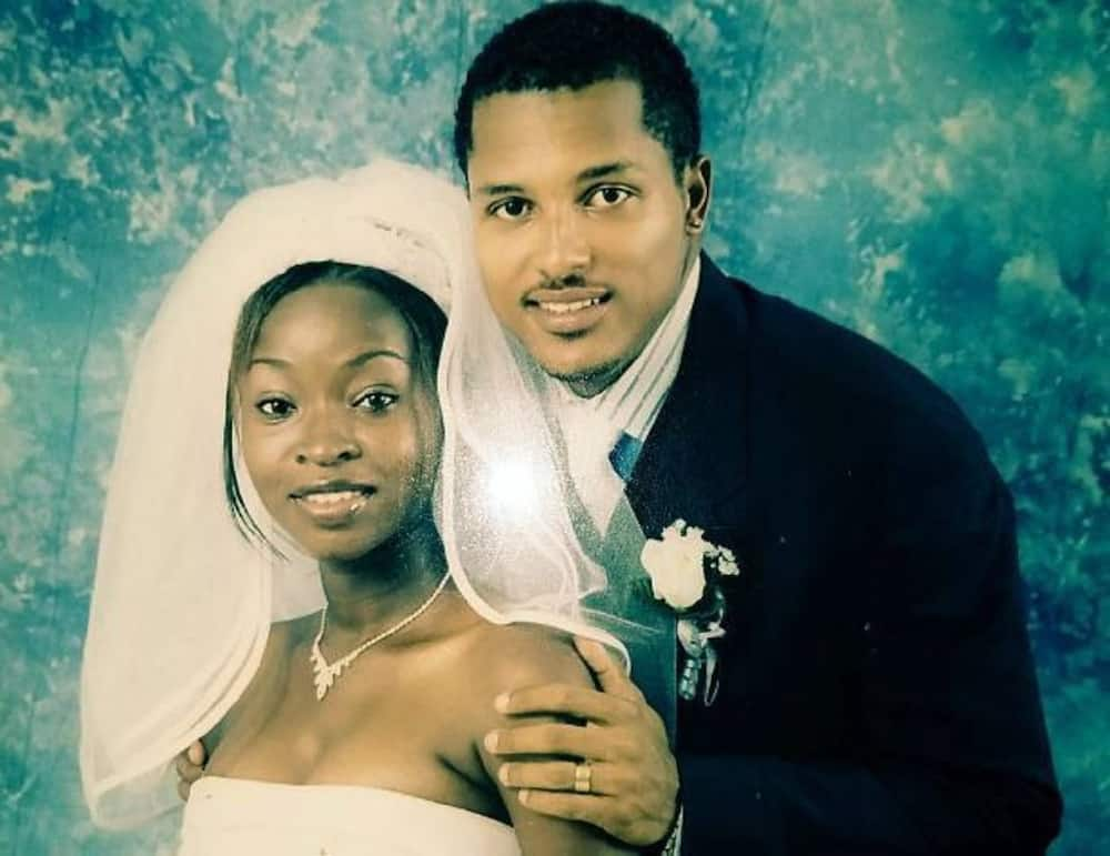 Wedding photo of Van Vicker and wife Adjoa as couple mark 17th anniversary