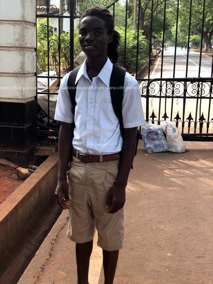 Achimota School: Photos emerge of Rasta student Tyrone Marhguy's first day at school