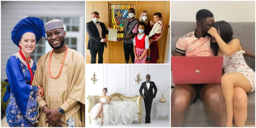 4 fine men who went abroad for businesses but found love with beautiful Oyinbo ladies along the way