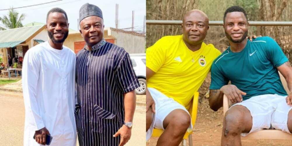 Football stars: 5 photos of Mubarak Wakaso and Abedi Pele bonding like father and son