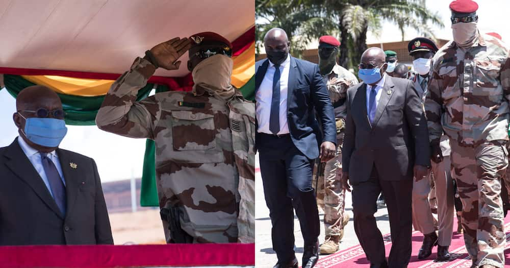Photos drop as Akufo-Addo arrive in Guinea over recent coup happens