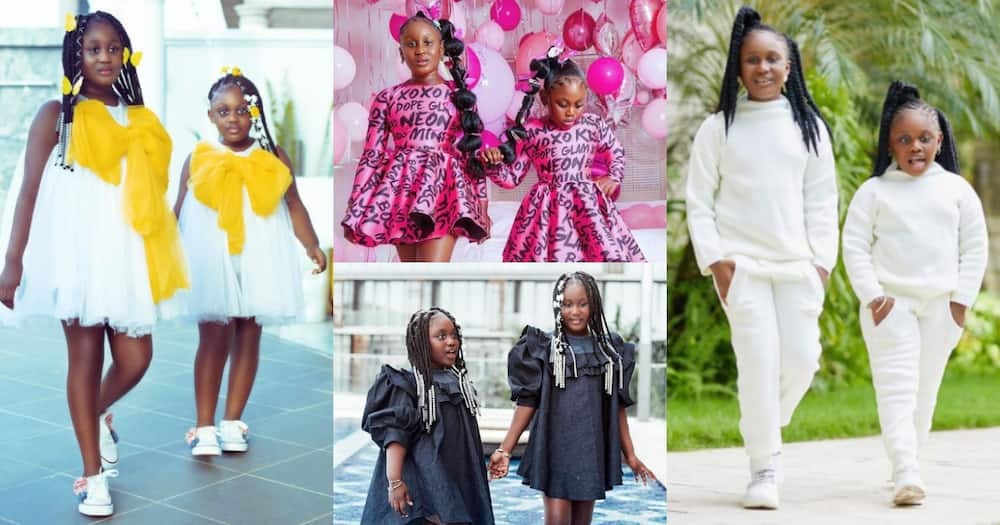 Nana Akua Addo's first daughter models alongside her younger sister in beautiful outfits