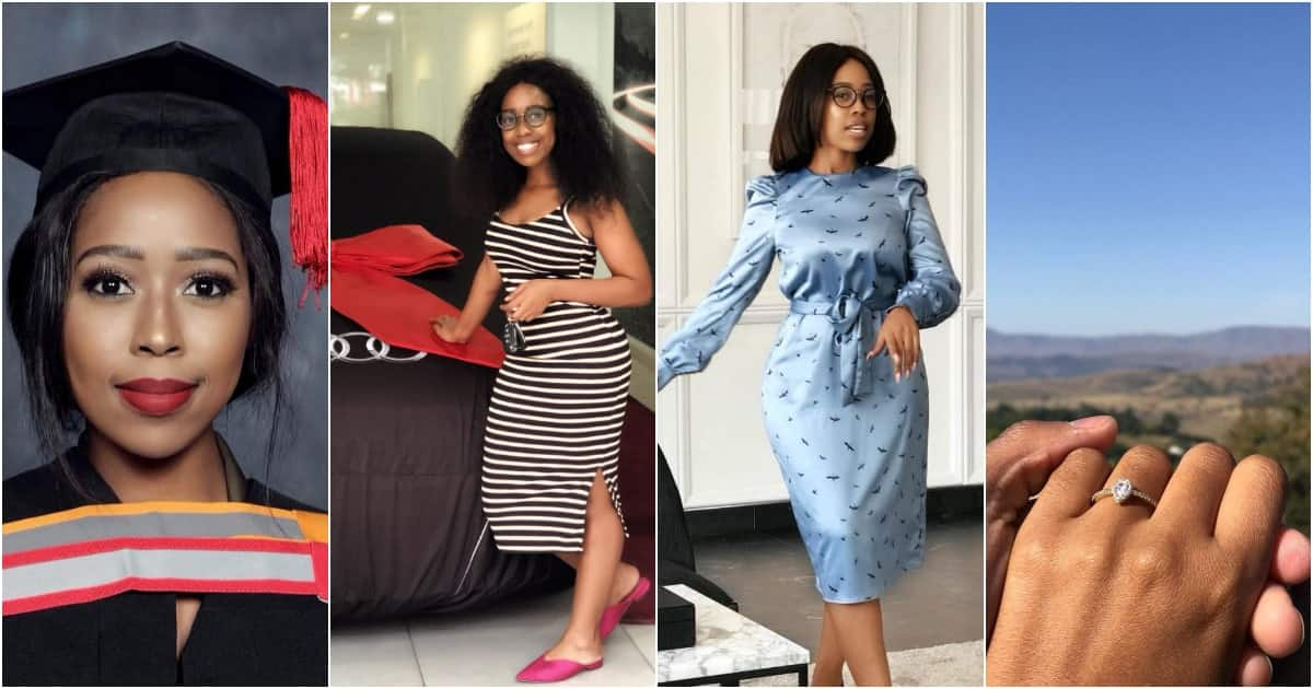 Lady who got engaged, bought a car & graduated in the first half of 2019 inspires many with her story (photos)