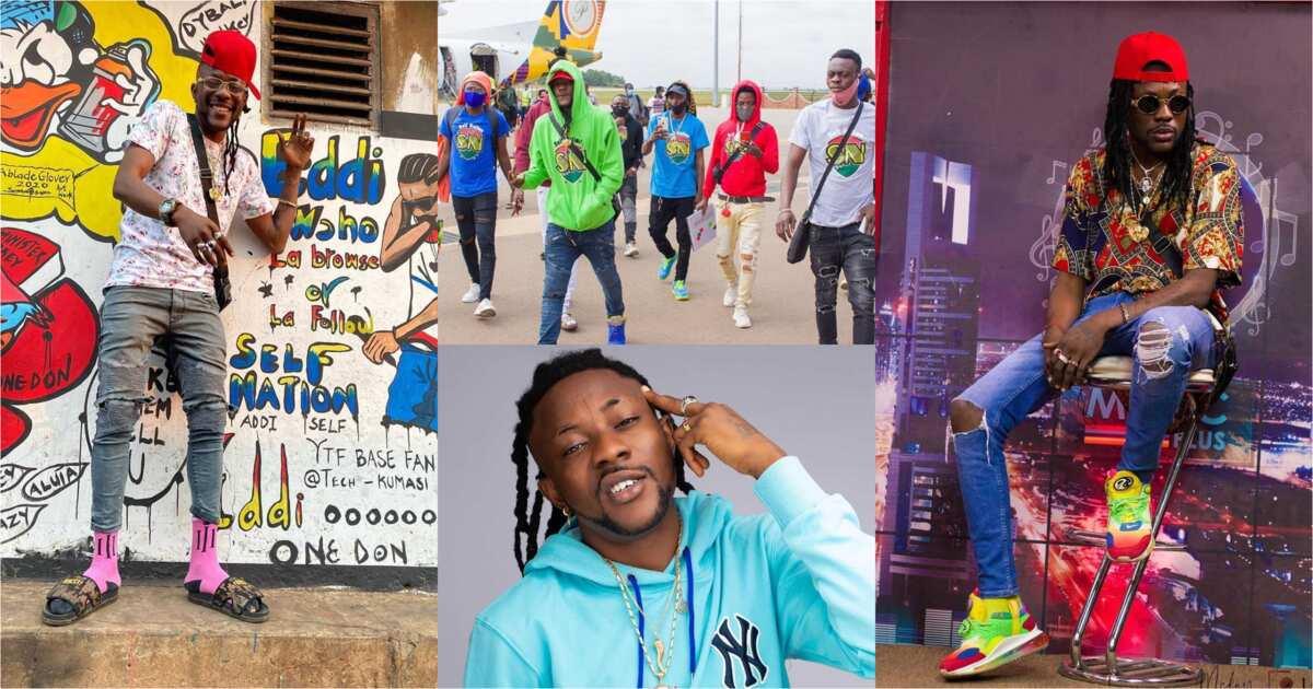 Addi Self mobbed as he tours Kumasi; videos and photos drop