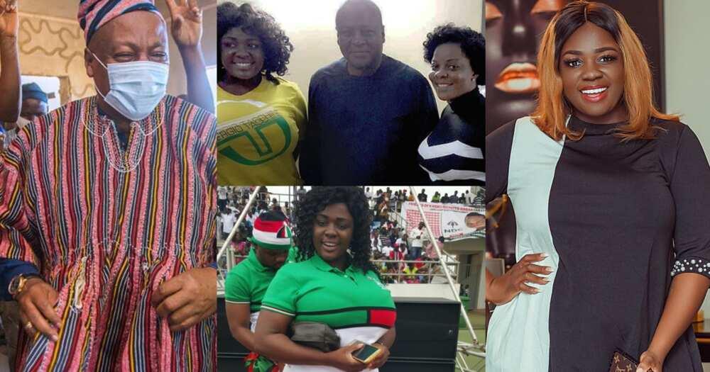 Tracey Boakye apologises to John Mahama over baby daddy tag