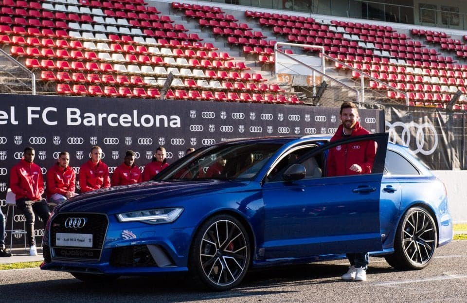 Argentina international Lionel Messi shows off £2.7m car collection