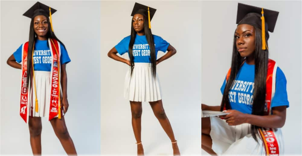 PHOTOS: Young lady celebrates as she graduates from top US university with degree in Biology