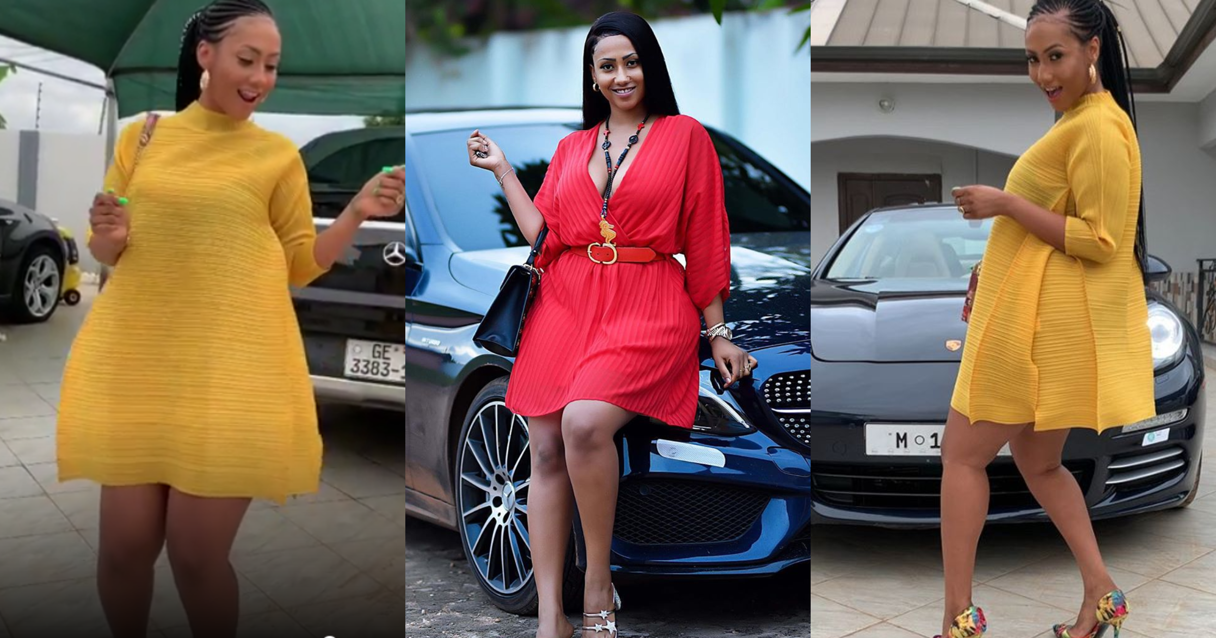 Latest video from Hajia4Real's beautiful mansion full of expensive cars shows she is a rich girl