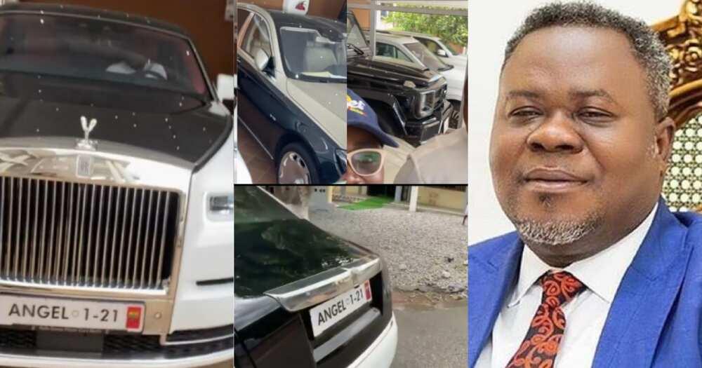 Dr Kwaku Oteng Video Shows Angel FM Owner's Plush Mansion & Expensive Cars In Kumasi