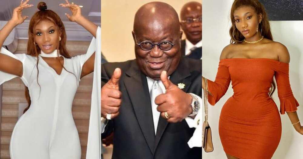 "Wendy Shay applauds Akufo-Addo saying ""he has done very well"""