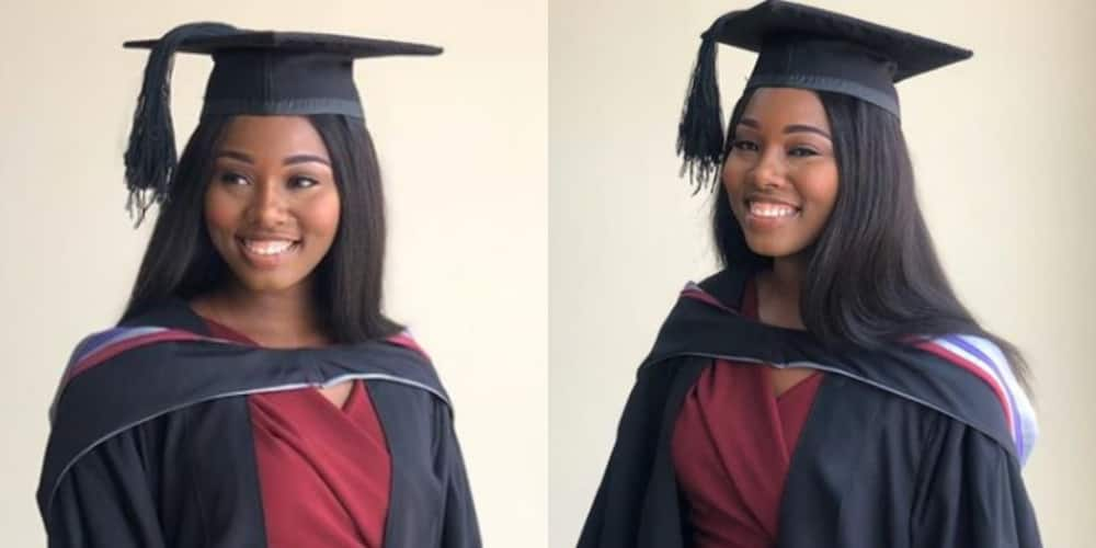 PHOTOS: Smart lady grabs Law degree from top university; celebrated by ex-EC boss Charlotte Osei