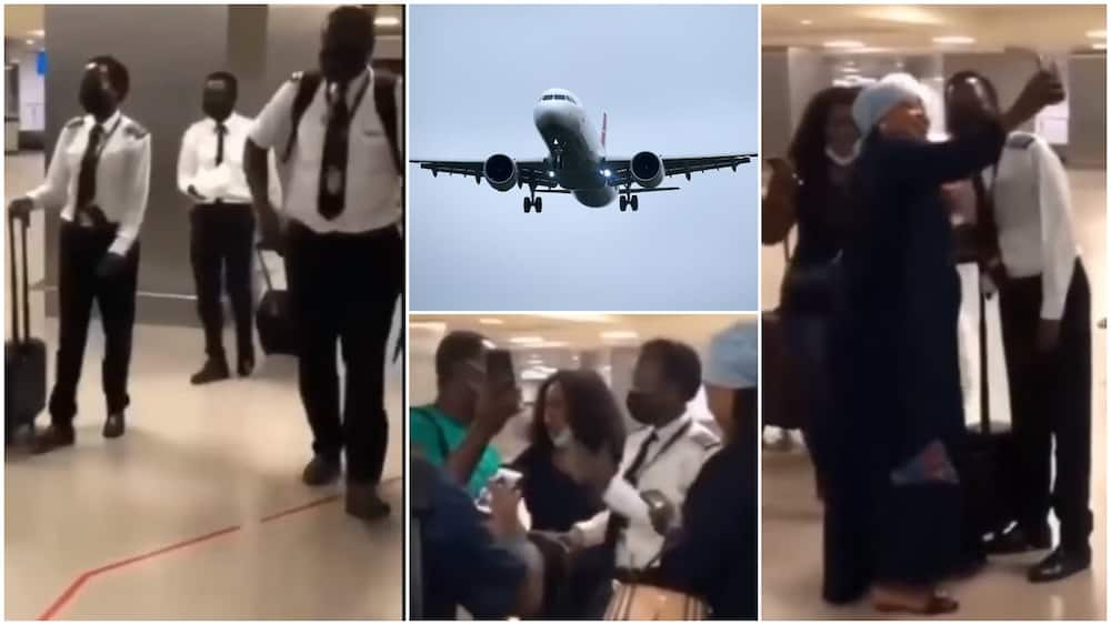 Cute moment Passengers Clap for Female Pilot who Landed Plane Despite Bad Weather, Video Sparks Reactions