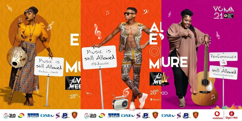 Vodafone Ghana Music Awards 2021: Full list of nominees pop up online